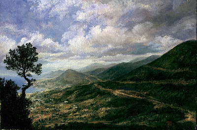 Crete Mountain View Original by Leonid Polotsky