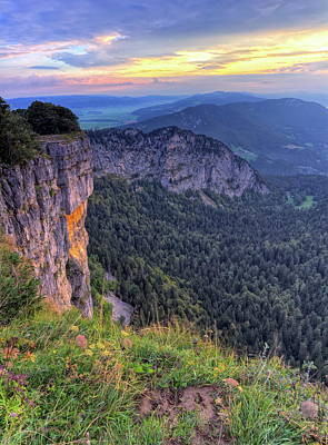 Photograph - Creux-du-van Or Creux Du Van Rocky Cirque, Neuchatel Canton, Switzerland by Elenarts - Elena Duvernay photo