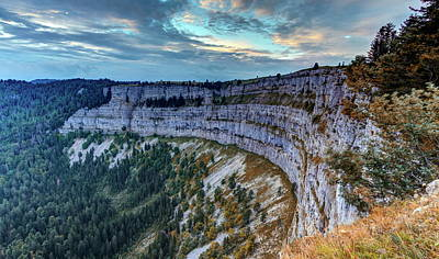 Photograph - Creux Du Van Rocky Cirque, Neuchatel Canton, Switzerland by Elenarts - Elena Duvernay photo