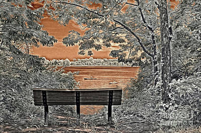 Creve Coeur Park Photograph - Creve Coeur Lake In Infrared Light by Igor Aleynikov