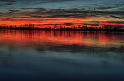 Creve Coeur Park Photograph - Creve Coeur Lake Sunset by Allen Skinner