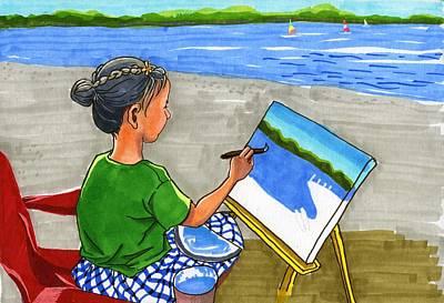 Painting - Creve Coeur Plein Air  by Ping Yan