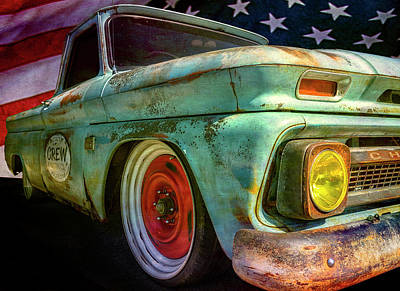 Chevy C10 Photograph - Crew Painting Co. by Larry Helms