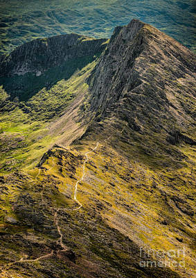 Crib Goch Art Print by Adrian Evans