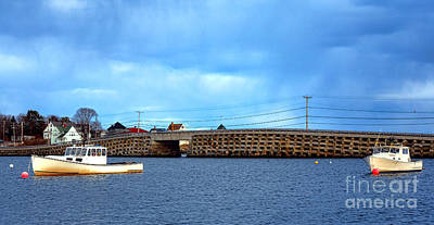 Photograph - Cribstone Bridge And Boats On Bailey Island by Olivier Le Queinec