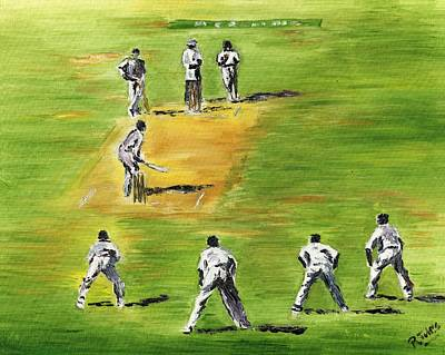 Cricket Duel Art Print