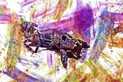 Digital Art - Cricket European Gryllotalpa Mole  by PixBreak Art