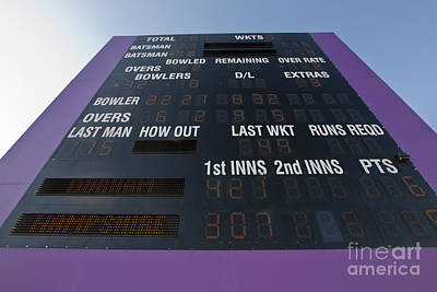 Photograph - Cricket Score Board by Terri Waters