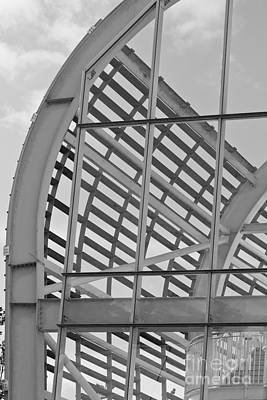 Photograph - Cricket Stadium Architecture Black And White by Terri Waters