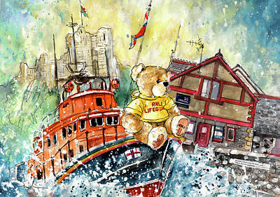 Painting - Cricky The Rnli Teddy Lifeguard by Miki De Goodaboom