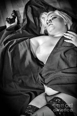Fat Woman Photograph - Crime Scene By Mary Bassett by Mary Bassett