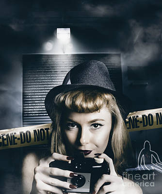 Crime Scene Photographer Art Print by Jorgo Photography - Wall Art Gallery