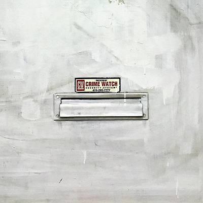 Crime Watch Mailslot Art Print