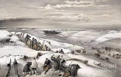 Drawing - Crimean War, Sevastopol, 1855.  by Granger