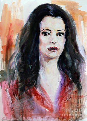 Painting - Criminal Minds Emily Prentiss by Ginette Callaway