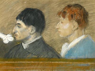 Criminal Physiognomies Art Print by Edgar Degas