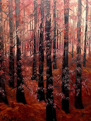 Painting - Crimson And Cold by Lisa Aerts