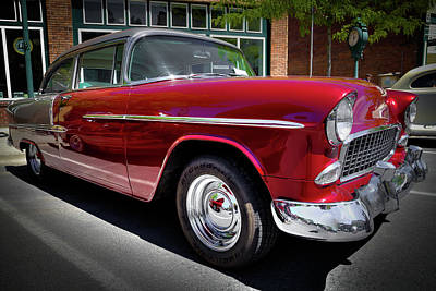 Photograph - Crimson And Gray 1955 Chevy by David Patterson