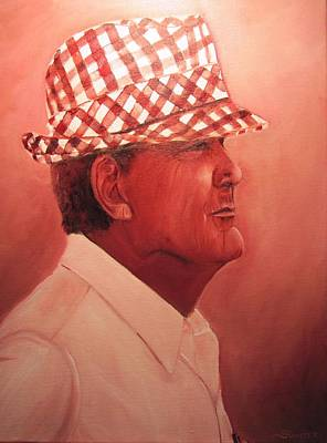 Paul Bear Bryant Painting - Crimson Bear by Sheila Gunter