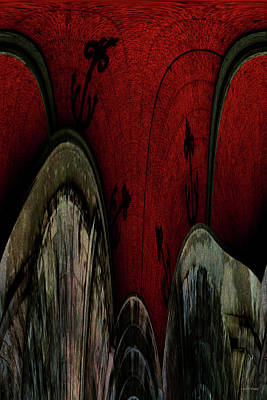 Photograph - Crimson Canals Abstract Art by Lesa Fine