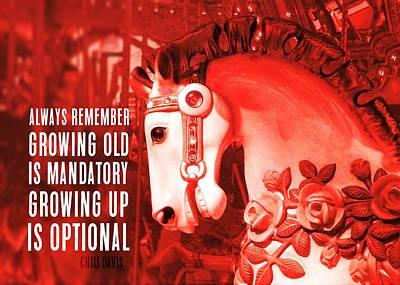 Crimson Carousel Quote Art Print
