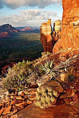 Cathedral Rock Digital Art - Crimson Cliffs 08-064 by Scott McAllister