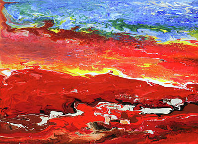 Painting - Crimson Drift by Ralph White