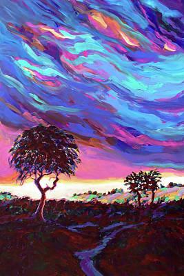 Wall Art - Painting - Crimson Dusk by Charles Wallis