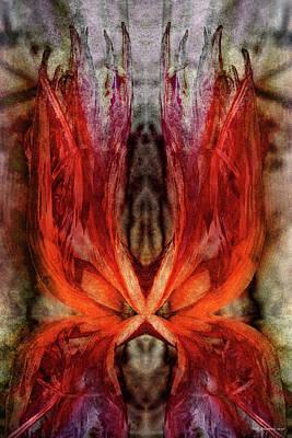 Digital Art - Crimson Flame by WB Johnston