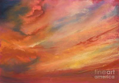 Pastel - Crimson Haze  by Robin Maria Pedrero