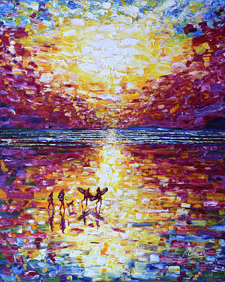 Painting - Crimson In Sunset by Pete Caswell