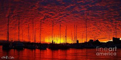 Royalty Free Images Photograph - Crimson Nautical Sunset. by Geoff Childs