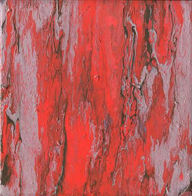 Crimson Oak, Abstract Acrylic Painting Original by Cara Bevan