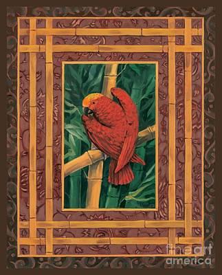 Crimson Parrot Art Print by Paul Brent