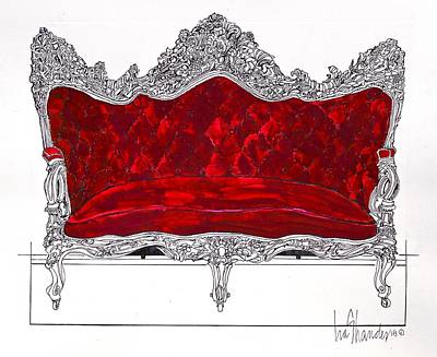 Drawing - Crimson Plush by Ira Shander