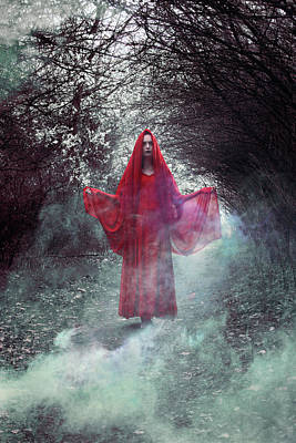 Crimson Digital Art - Crimson Prophetess by Cambion Art