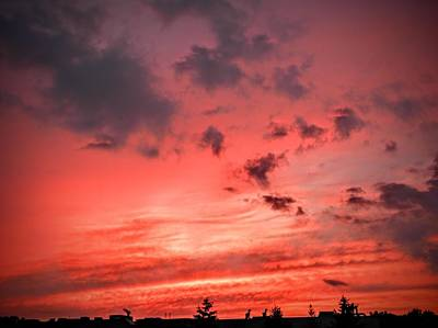 Sky Photograph - Crimson Sky by Ric Schafer