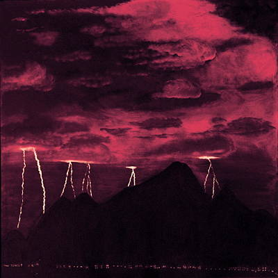 Crimson Storm Art Print by Dawn Hay