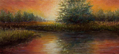 Painting - Crimson Sunset by Susan Jenkins