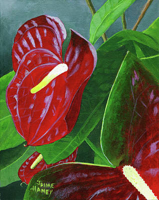 Painting - Crimson Thrill by Jaime Haney