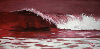 Painting - Crimson Tide by Christopher Reid