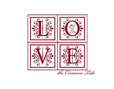 Crimson Tide Love Art Print by Marian Schumer