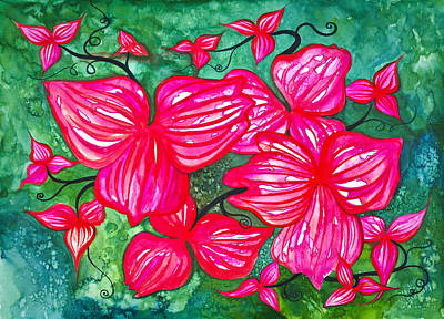 Painting - Crimson Vine by Adria Trail