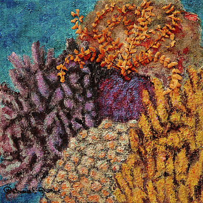 Painting - Crinoids On Burlap by Patricia Beebe