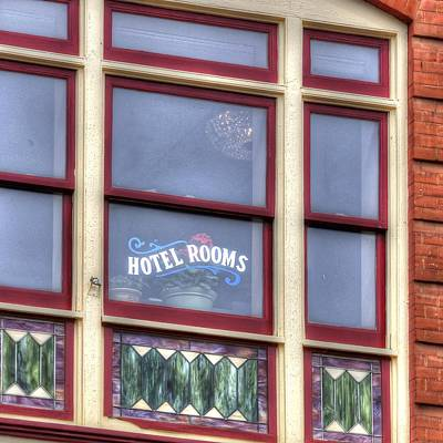 Jerry Sodorff Royalty-Free and Rights-Managed Images - Cripple Creek Hotel Rooms 7880 by Jerry Sodorff