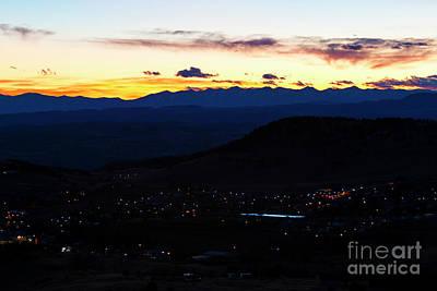 Photograph - Cripple Creek Mountain Sunset by Steve Krull