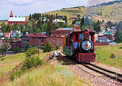 Photograph - Cripple Creek Victor Narrow Gauge Train by Steve Krull