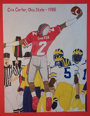 Cris Carter - Ohio State Art Print by TJ Doyle