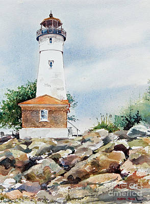 Crisp Lighthouse Art Print