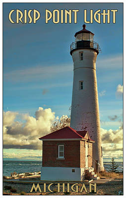 Photograph - Crisp Point Light by Debby Richards